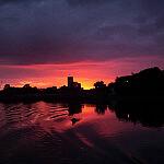 Twierdza Wisłoujście (wschód słońca)