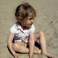Martynka na plaży