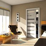 Drzwi Verte , Model : D7 , Okleina : Decor Biały