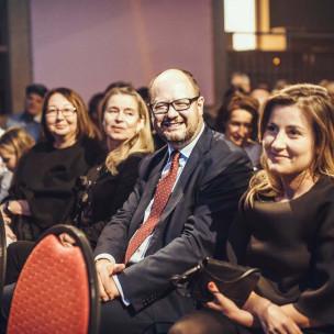 Prezydent Paweł Adamowicz oraz Małgorzata Gawron
