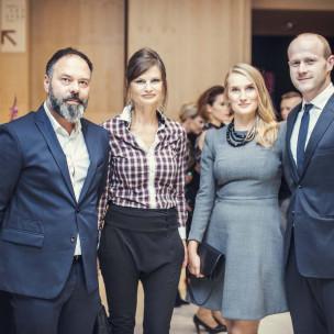 Mariusz i Agnieszka Zawadzcy oraz Bartosz Bartoszewicz z żoną