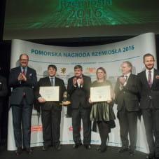 Ryszard Świlski członek Zarządu Województwa Pomorskiego, Paweł Adamowicz, Dariusz Drelich, Katarzyna Oskroba, Bartosz Laszczka