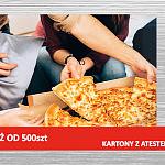 KARTONY DO PIZZY z ATESTEM DO KONTAKTU Z ŻYWNOŚCIĄ - SERIA PYSZNA PIZZA