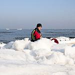 Kajakiem wśród lodowych kier
