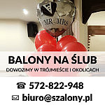 BALONY NA ŚLUB, DEKORACJA ŚLUBNA - SZALONY.PL - GDYNIA, SKWER KOŚCIUSZKI 17/19C