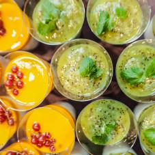 Tapioka pudding (mango/kiwi)
