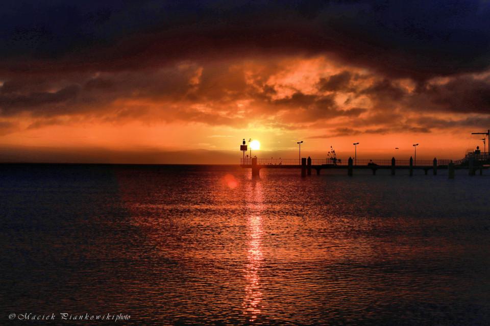 Mechelinki 3 marca wschód słońca
