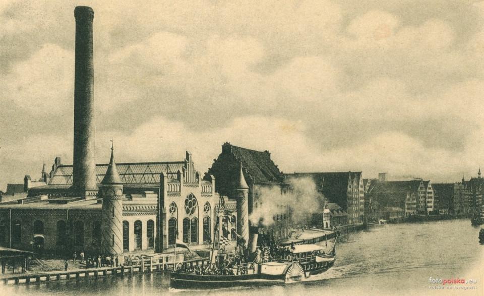 1899, Elektrownia od strony Motławy