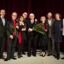 Bronisław Prądzyński -  dyrektor gdańskiej Szkoły Baletowej z członkami jury konkursu