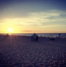 Sobieszewski zachód słońca