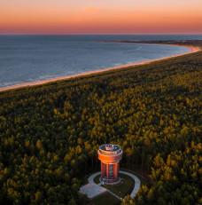 Wyspa Sobieszewska i malowniczy zachód słońca