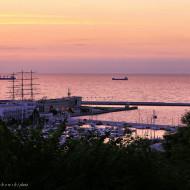 Gdynia wschód słońca 16 sierpnia