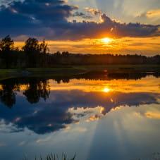 Zachód Słońca na Morenie.