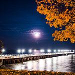 Molo w Orłowie nocą