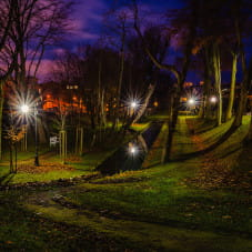 Park przy ul. Folwarcznej w Orłowie