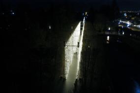 Park Oliwski grudniowego wieczoru