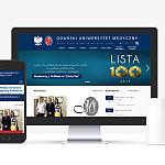 Nowa, odświeżona strona internetowa uczelni. Przebudowana architektura informacji i nawigacja.