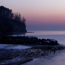 Orłowo o brzasku i po wschodzie słońca