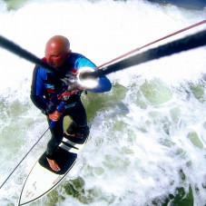 Brzezno kitesurfing strapless Janek Lisewski
