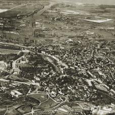 Panorama lotnicza Gdańska od strony Biskupiej Górki