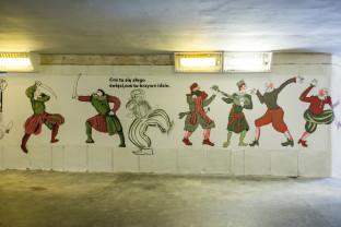 Nowy mural w przejściu podziemnym pod ul. Okopową i Podwalem Przedmiejskim