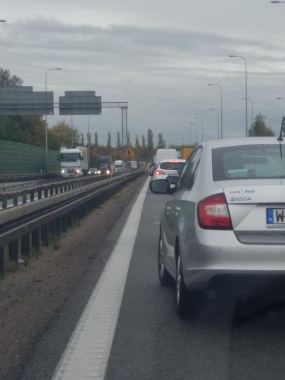 Korek w stronę A1, zaraz za zjazdem na Straszyn