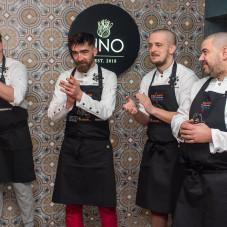 Szefowie kuchni, którzy przygotowywali kolację. Od lewej: Rafał Koziorzemski, Rafał Wałęsa, Jacek Koprowski, Paweł Dołżonek.