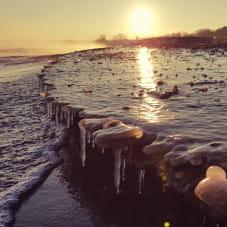 Plaża w Brzeźnie w zimowej scenerii (1)