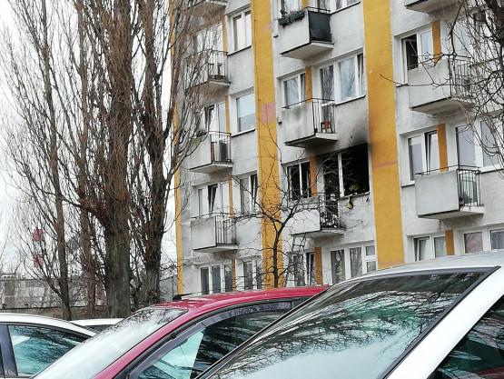 Skutki pożaru na Chylońskiej w Gdyni