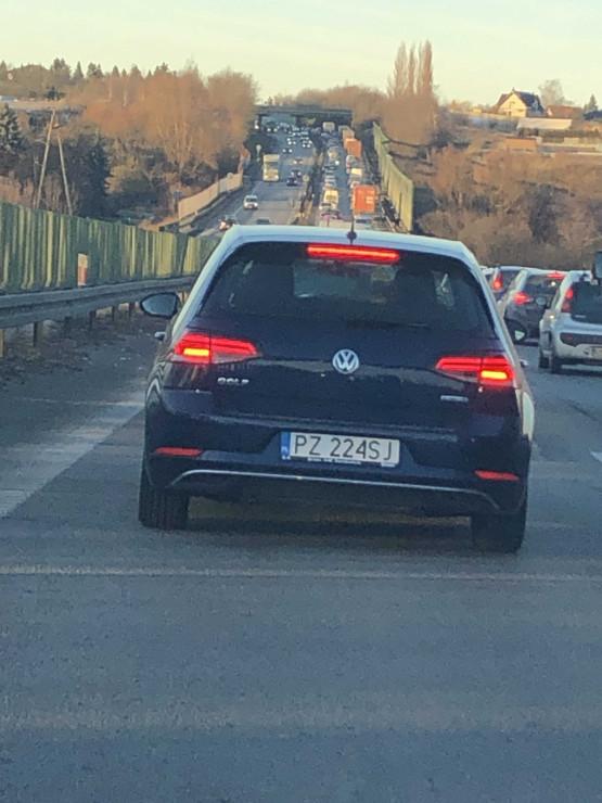 Korek na obwodnicy tuż za A1 w stronę Gdańska