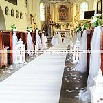 Dekoracja Ślubna Kościoła Trójmiasto ~ Dekori ~ Wystrój Ślubny Kościołów Gdynia ~ Biały Dywan Sopot