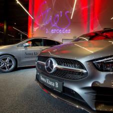 Prezentacja samochodów, m.in. Mercedesa nowej klasy B