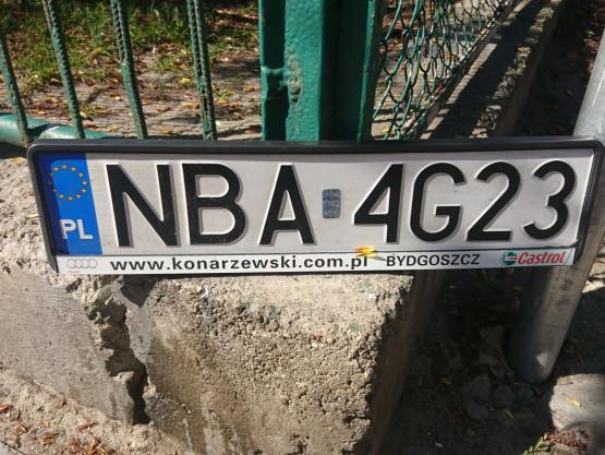 Odnaleziona rejestracja z Bartoszyc w Gdyni
