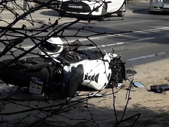 Skutki wypadku motocyklisty w Osowej