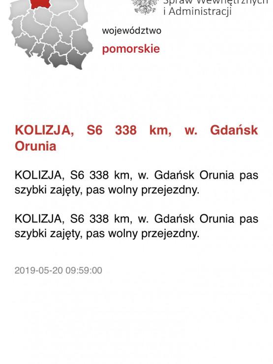 Kolizja na obwodnicy w stronę Gdyni