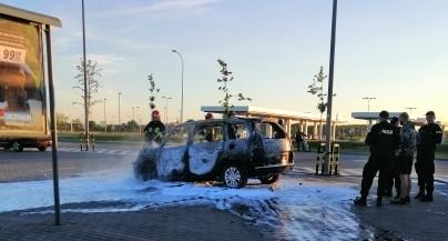 Pożar auta ugaszony