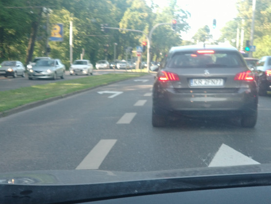 Korek na wjeździe do Sopotu od strony Gdyni