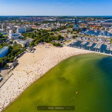 Wakacyjna Gdynia z powietrza