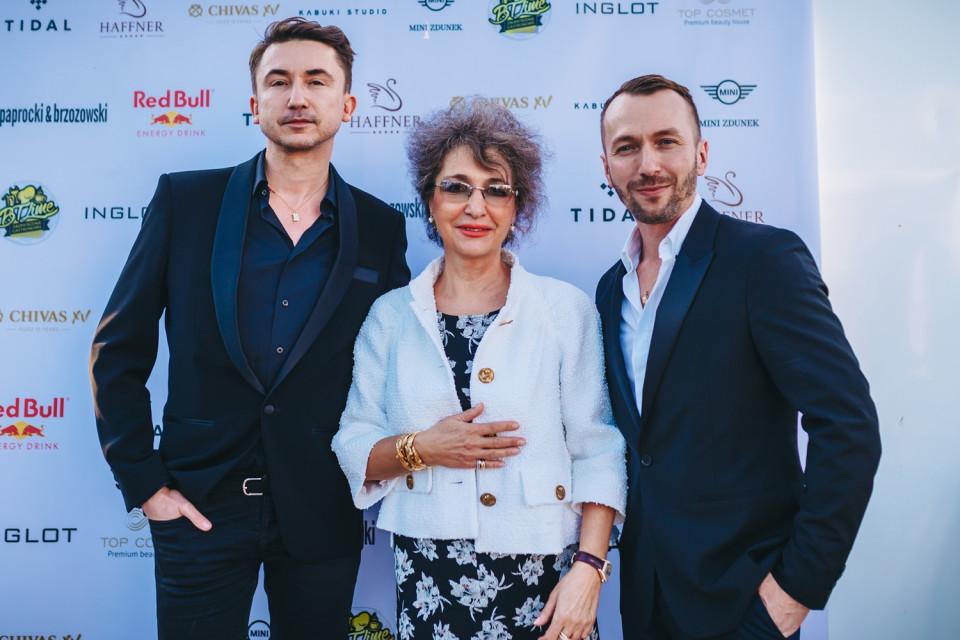 Marcin Paprocki, Hanna Hass (właścicielka hotelu) i Mariusz Brzozowski