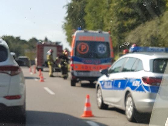 Wypadek na obwodnicy w stronę A1