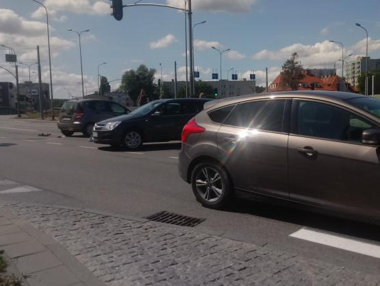 Zderzenie aut we Wrzeszczu