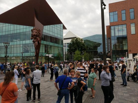Trwa ewakuacja Forum Gdańsk