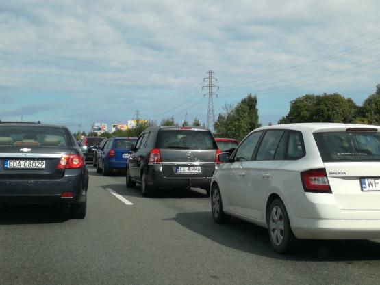 Wypadek na wysokości węzła Szadółki w stronę Gdyni