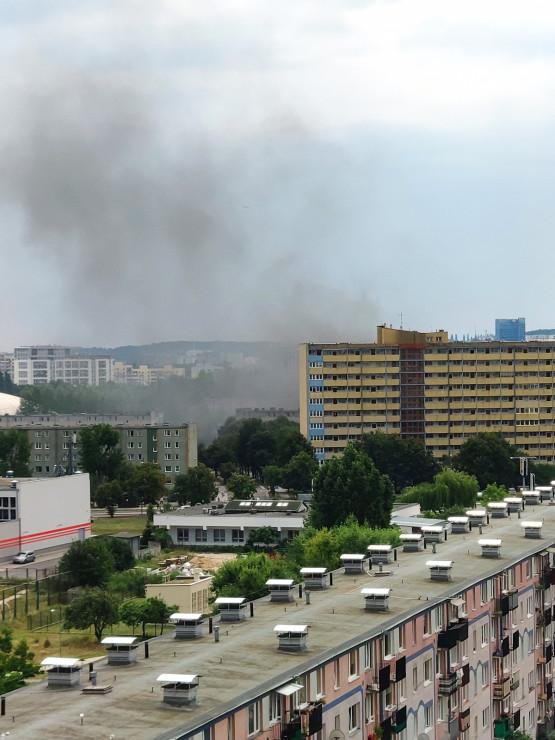 Pożar w okolicy ul. Opolskiej
