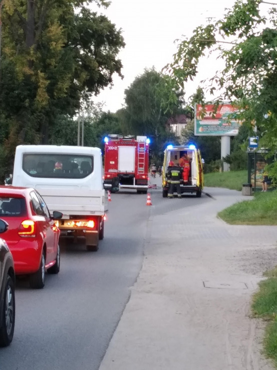 Kolizja rowerzysty na Kartuskiej