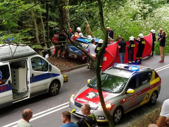 Wypadek podczas wyścigów samochodowych w Sopocie