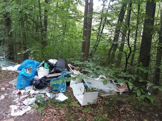Ktoś podrzuca śmieci na trasie rowerowej do Źródła Marii