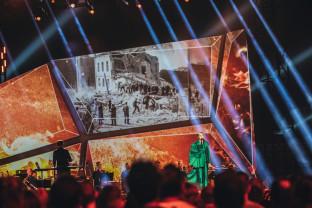 Widowisko multimedialne przed Muzeum II Wojny Światowej