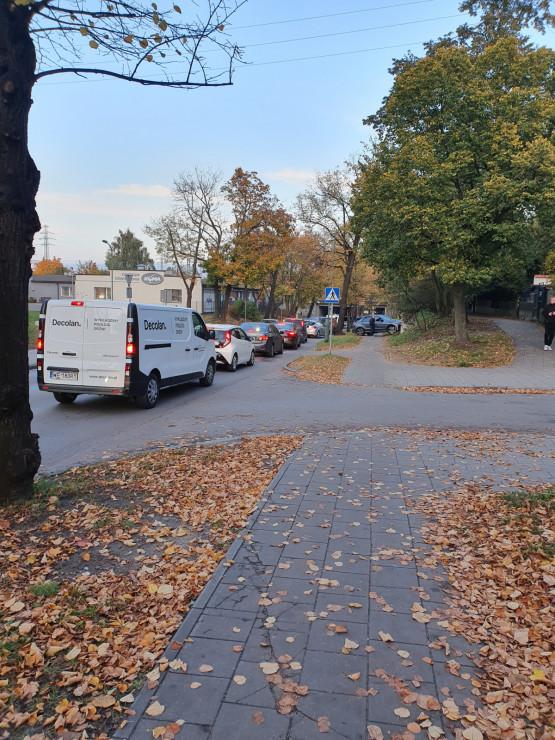 Zderzenie trzech aut na Piastowskiej w Oliwie