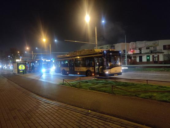Awaria trolejbusu przy ul. Morskiej